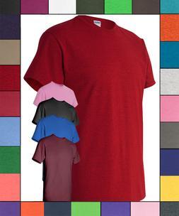 Gildan Men's T-Shirts 5-Pack Crew Heavyweight 5.3oz 100% Pre
