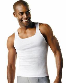 Hanes Men's TAGLESS ComfortSoft White A-Shirt 6-Pack Shirts