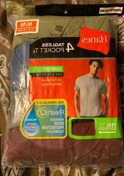 "Men's Hanes Tagless Pocket Fresh IQ T-Shirts Size M 38-40"""