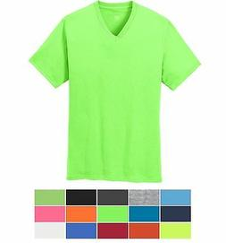 MEN'S V NECK, COTTON & 50/50 COTTON/POLY T-SHIRTs, MID-WEIGH