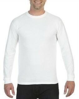 Comfort Colors Men's White Long-Sleeve T-Shirt Pre shrunk 10