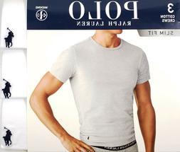 Polo Ralph Lauren Men's White Slim Fit Crew-Neck Moisture Wi