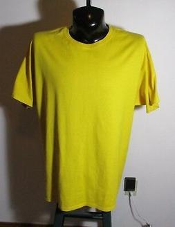 Men's CHAMPION Yellow 100% Cotton T-Shirt Size XL NWOT