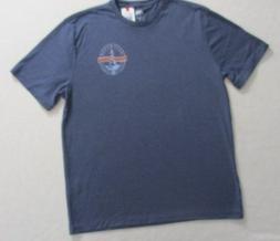 Men T shirt Izod Saltwater XL Blue Short Sleeves 19130
