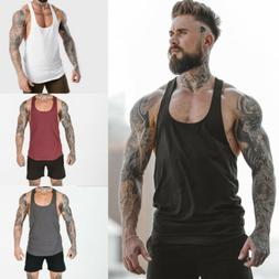 Men T Shirt Slim Fit Casual Tank Top Summer Vest Clothes Bod