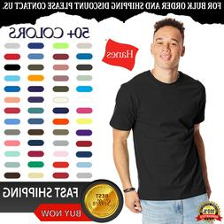 Hanes Men's Cotton Beefy-T Cover Seamed Neck Lay Flat Collar