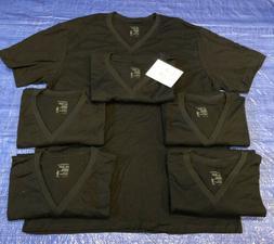 Jockey Mens Big & Tall Classic V-Neck Black T-Shirts STAYNEW