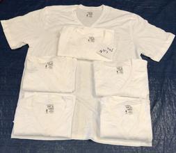 Jockey Mens Big & Tall Classic V-Neck White T-Shirts STAYNEW