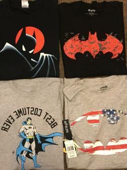 Men's Big And Tall Batman T-Shirt 4 Shirts 3XL Animated Se