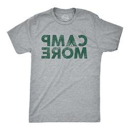 Mens Camp More Tshirt Funny Outdoor Adventure Camping Novelt