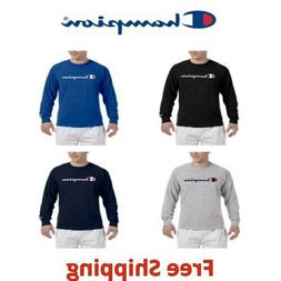 Champion Mens Classic Script Logo Long Sleeve T Shirt Tee 5