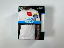 Mens Hanes Cool White X-Temp Comfort Tagless T Shirts  NEW!