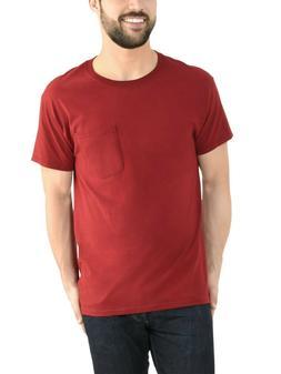 Fruit of The Loom Mens Dual Defense UPF Pocket T Shirt Cardi