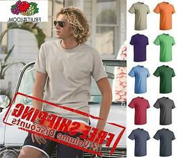 Fruit of the Loom Mens HD 100% Cotton Blank Short Sleeve T S