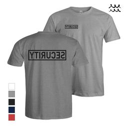 MENS SECURITY PRINTED T SHIRT LAW ENFORCEMENT SHIRTS SAFETY