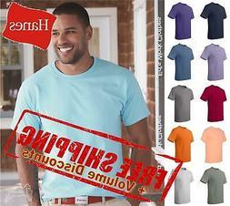 Hanes Mens Short Sleeve Cotton Blank Tagless T Shirt 5250 up