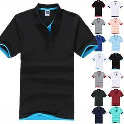 Mens Short Sleeve Summer Golf Sport Polo Shirts T-Shirt Casu