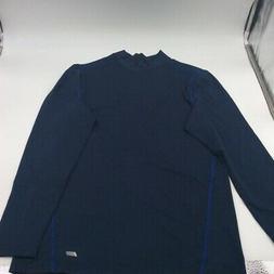 Amazon Essentials Mens T-Shirt Blue Long Sleeve Mock Neck St