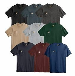 Carhartt Mens T-shirt WorkWear K87 Pocket Basic Heavyweight