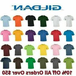 Gildan Mens T Shirts 5000 Solid Heavyweight Cotton Short Sle