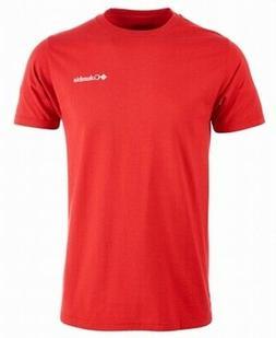 Columbia Mens T-Shirts Red Size Medium M Tree Graphic-Print