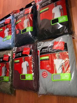 Hanes Mens Tag Free Pocket T shirts 6 Pack Size S-3XL Assort
