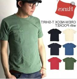 Hanes Mens Tag Free Pocket T shirts 8 Pack Size S-3XL Assort