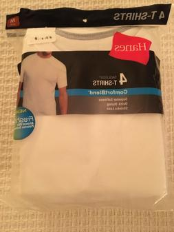 Hanes Men's Tagless Comfort Blend 4 Tee Shirts NIP M
