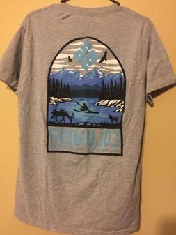 Columbia Mens Tee Shirt Large Gray Blue NWOT