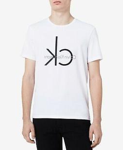 Calvin Klein Mens Tee T-Shirt White 3XLT Crewneck Logo Graph