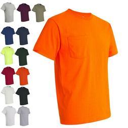 JERZEES Mens Heavyweight Blend 50/50 T-Shirt with a Pocket 2