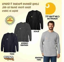 Carhartt Mens Workwear K126 Long Sleeve Pocket T Shirt FREE