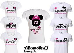 Minnie Birthday Girl Family Matching T-shirts. disney Pink T