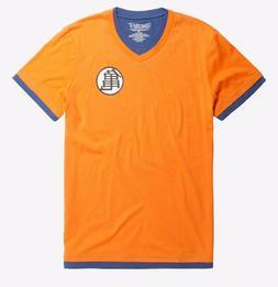 Dragon Ball Z Movie Goku Kame Symbol Layered Vneck T-Shirt N