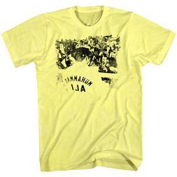 Muhammad Ali Boxing Ringside Men's T Shirt Yellow Cassius Cl