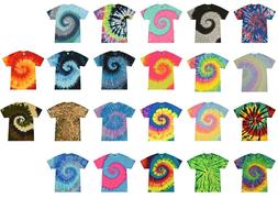 multi color tie dye t shirts adult