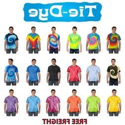 Multi-Color Tie Dye T-Shirts, Adult S M L XL 2XL 3XL 4XL 5XL