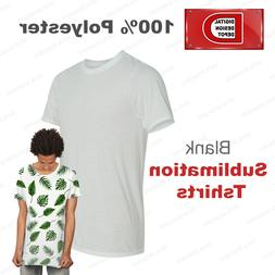 NEW 100% Polyester Blank Sublimation Printing T-shirts S, M,