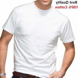 New 12 Pack Men's 100% Cotton Tagless T-Shirt Undershirt Tee