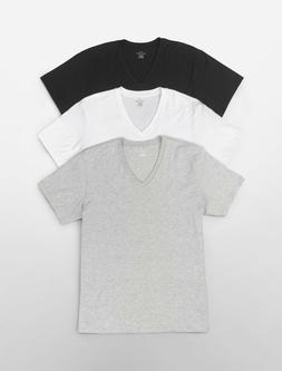 Three  Pack NEW Calvin Klein Men's Cotton V-Neck OR Crew Nec