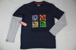 NEW Boys Large Size 10 - 12 Hulk Thor T Shirt Superhero Marv