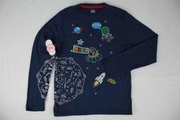 NEW Boys Space T Shirt Alien Dinosaur Size 10 - 12 Large Moo