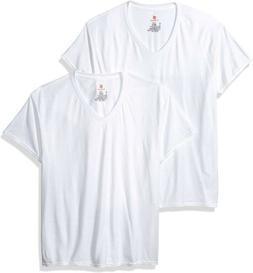 New Hanes Comfort Blend 2 Pack White V-Neck T-Shirts Tee Men