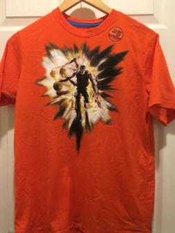 NEW Nike Dri Fit ORANGE T SHIRT  FOR  BOYS WITH BASKETBALL G