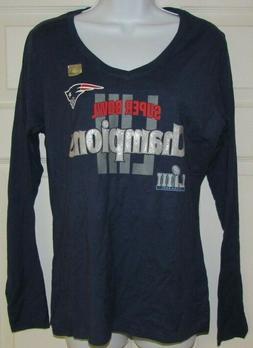 New England Patriots NFL T-Shirt - Women's V-Neck 2019 Super