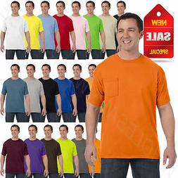 Hanes Mens Pocket T-Shirt 100% Cotton ComfortSoft Heavy S-XL