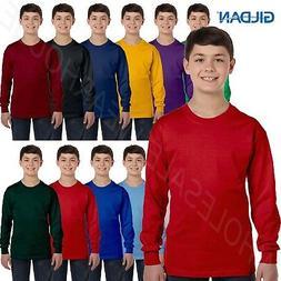 NEW Gildan Heavy Cotton Youth 5.3 oz Long-Sleeve XS-XL T-Shi