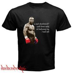 Iron Mike Tyson Quote Boxing Champion Men's Black T-Shirt Si