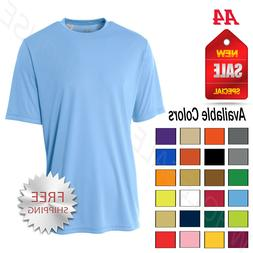 NEW A4 Men's Dri-Fit Workout Running Cooling Performance T-S