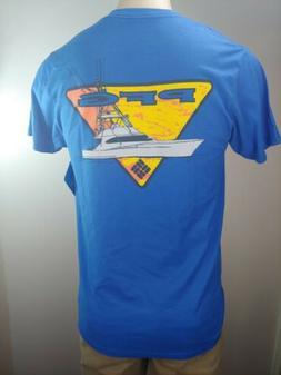 NEW Columbia Men's Graphic T Shirt Sz Large  Royal Sportswea